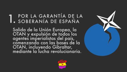 Por la garantía de la soberanía de España
