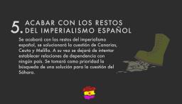 Acabar con los restos del imperialismo español